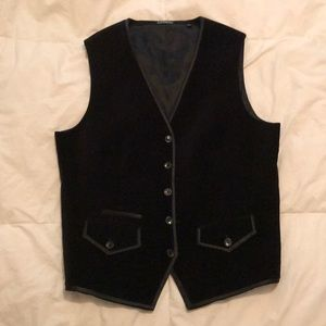 Express Men's Velvet Dress Vest